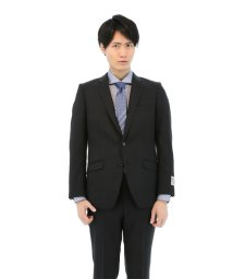 TAKA-Q/ストライプ クロ 2ピーススーツ スリムフィット/501198323