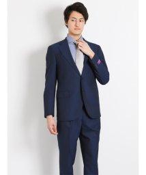 TAKA-Q/FINTESS ストライプ紺2ピーススーツY体 スリムフィット/501198330