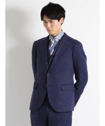 TAKA-Q/FINTESS デニムルック紺3ピーススーツA体 スリムフィット/501198340