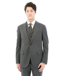 TAKA-Q/MARZOTTO グレー3ピーススーツAB体 スリムフィット/501198343