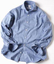 SHIPS MEN/SD: MONTI社製生地 ウォッシュド ネルシャツ (スカイブルー)/501198906