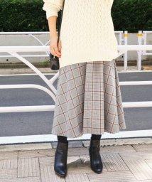 IENA/チェックフレアースカート◆/501199732