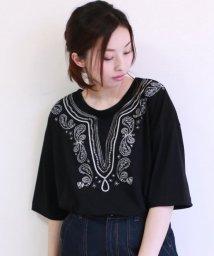 framesRayCassin/エスニック刺繍ドルマン七分袖Tシャツ/501200672