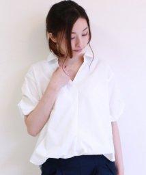 framesRayCassin/ボリューム袖スキッパーブラウス/501200681