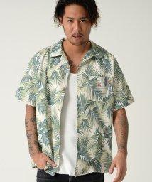 razz/RAZZIS【ラズ】メンズ リーフデザインアロハシャツ/501201041