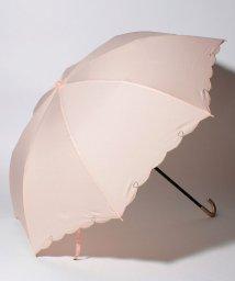 pink trick/【晴雨兼用傘】 ハートライン 折傘  (UVカット&軽量)/501182537