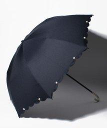 pink trick/【晴雨兼用傘】 スカラップパール 折傘  (UVカット&軽量)/501182543