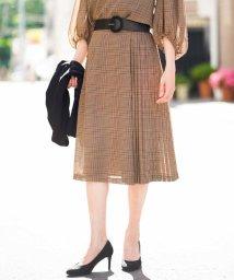 MICHEL KLEIN/【セットアップ対応】チェックプリーツデザインスカート/501220328