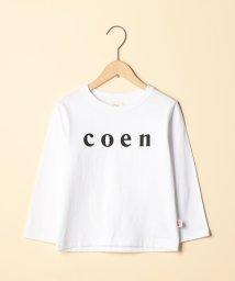 coen/【coen キッズ/ジュニア】】coen(コーエン)ロゴロングスリーブTシャツ(100~130)/501209672