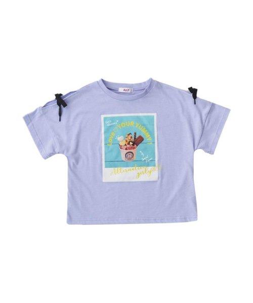 ALGY(アルジー)/RICFコラボりぼん袖T_ロールアイスクリームファクトリー/G407918