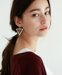 marjour/LEATHER TRIANGLE PIERCE/501222379