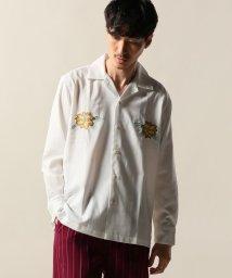 JOURNAL STANDARD relume Men's/reyn spooner×relume / 別注レインスプーナー ハイビスカス刺繍オープンカラーシャツ/501222760