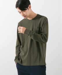 green label relaxing/別注 [ラコステ] SC LACOSTE GLR ピケ ポケット Tシャツ 長袖 / カットソー/501223276