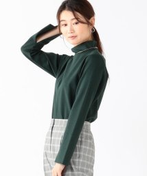BEAMS OUTLET/【洗える】Demi-Luxe BEAMS / スリットロングスリーブ ハイネックカットソー/501147113