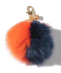 WYTHECHARM/フォックスファーキーホルダー オレンジ×ネイビー/501181102