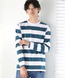 coen/ワイドボーダーロングスリーブTシャツ/501194773