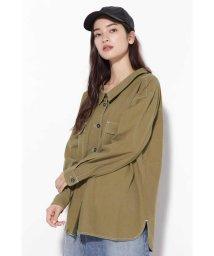 ROSE BUD/抜き襟ステッチシャツジャケット/501223419