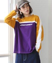 coen/SUNNY SPORTS(サニースポーツ)別注バイカラープリントロングTシャツ(ロンT/プルオーバー)/501223536