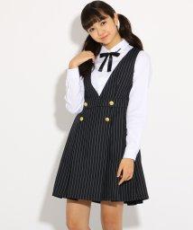 PINK-latte/【卒服】リボン付ブラウス+ジャンスカ ワンピース セット/501226777