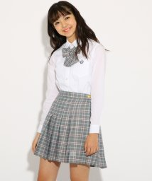 PINK-latte/【卒服】リボンタイ付 チェック プリーツ スカート/501226780