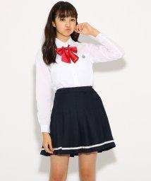 PINK-latte/【卒服】リボンタイ付 ライン スカート/501226781