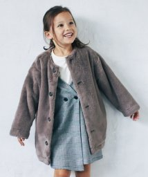 green label relaxing (Kids)/◆【キッズ】フェイクファーマフラー付きコート/501227279