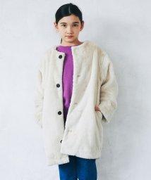 green label relaxing (Kids)/◆【ジュニア】フェイクファーマフラー付きコート/501227284