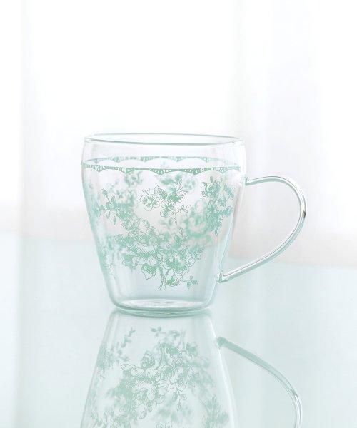Afternoon Tea LIVING(アフタヌーンティー・リビング)/線画フラワー柄耐熱ガラスマグカップ/FH7718308244