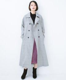 haco!/普段着の上にパッと羽織るだけでかっこよくなれる グレンチェックのトレンチコート/501192907