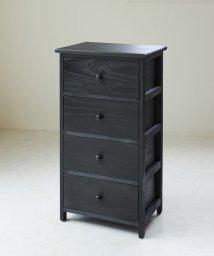 En Fance/木製4段チェスト(ブラック)/501198051