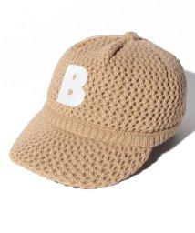 b-ROOM/ロゴアップリケつきニットキャップ/501200575