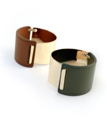marjour/LEATHER & METAL BANGLE/501228862