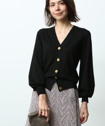 ROPE' mademoiselle/パフ袖Vネックカーディガン/501229143