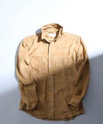 ABAHOUSE/フェイクスウェードスタンドシャツ/501229146
