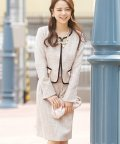 PourVous/【入学式・卒園式】2点セット ジャケット ノーカラーラメツイード スカート /501195275