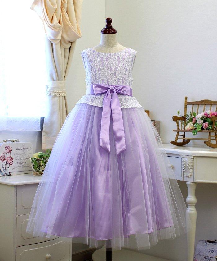 8c628da9a37c6 リトルプリンセス 子供ドレス 008020 レディース ライラック 120cm  Little Princess