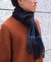 NOLLEY'S goodman/カシミヤリバーシブルストライプマフラー/501205983