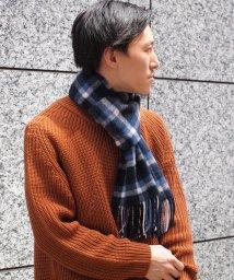 NOLLEY'S goodman/カシミヤリバーシブルチェックマフラー/501205984