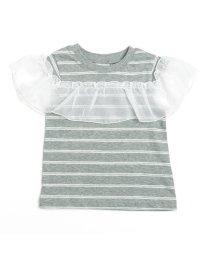 BREEZE/フリルボーダーTシャツ/501210742