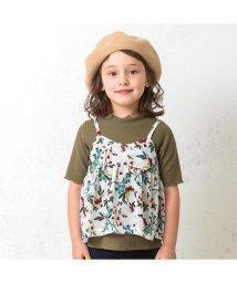 BREEZE / JUNK STORE/フラワープリントキャミ付Tシャツ/501213444