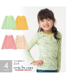 apres les cours/4色2総柄girly長袖Tシャツ/501221106