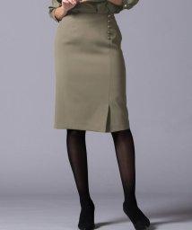 Viaggio Blu/≪大きいサイズ≫【セットアップ対応】ボタン使いストレートスカート/501229841