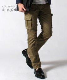 THE CASUAL/(バイヤーズセレクト) Buyer's Select 日本製ストレッチスリムテーパードカーゴパンツ/501232818