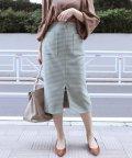NOBLE/ガンクラブチェックフープジップタイトスカート◆/501234368