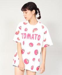 PUNYUS/フード総柄Tシャツ/501185609