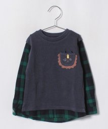 kladskap/動物ポケット重ね着風Tシャツ/501223615