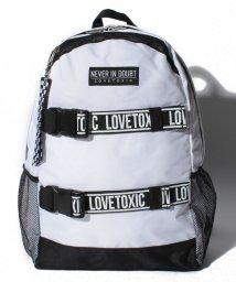 Lovetoxic/ロゴテープバックルリュック/501223637