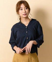 TONAL/【セットアップ対応商品】ウールライクパール釦オープンシャツ/501225331