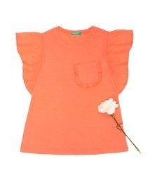 BENETTON (UNITED COLORS OF BENETTON GIRLS)/フリル袖チビポケットTシャツ・カットソー/501226400
