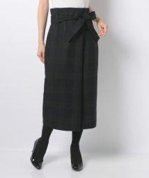 JOCONDE ROYAL/ラップ風チェックロングスカート/501226513